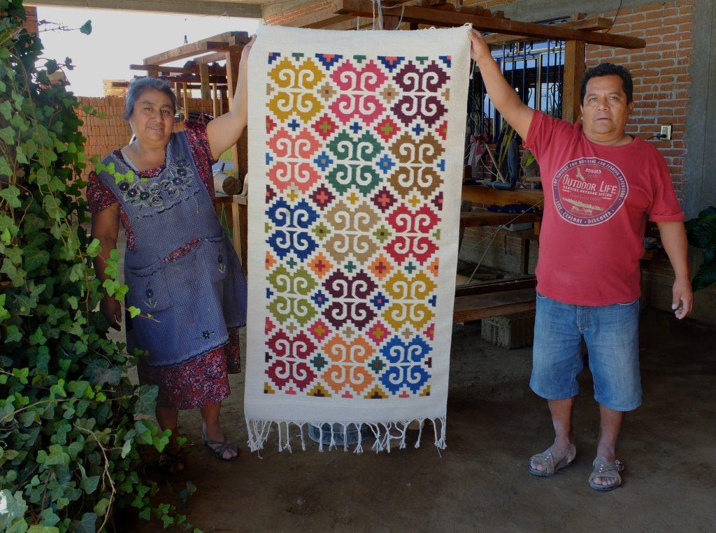 Alfombras étnicas mexicanas motivos tradicionales