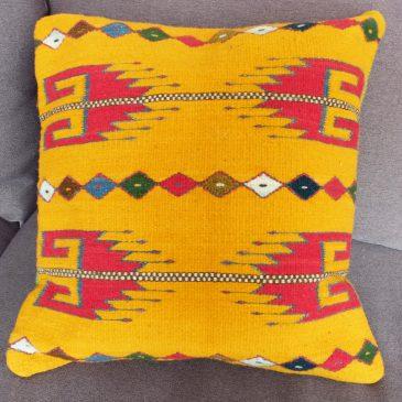 Housse de coussin ethnique mexicain motifs traditionnels
