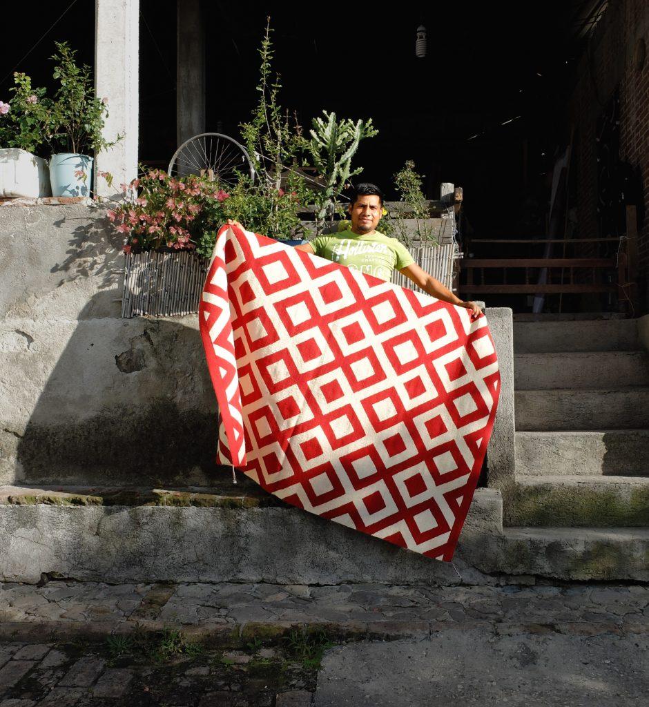 Patrones geométricos de la alfombra étnica mexicana