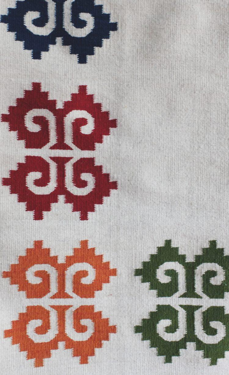 Tapis ethnique mexicain motifs traditionnels
