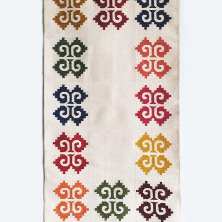 tapis aux motifs zapotèques coloré