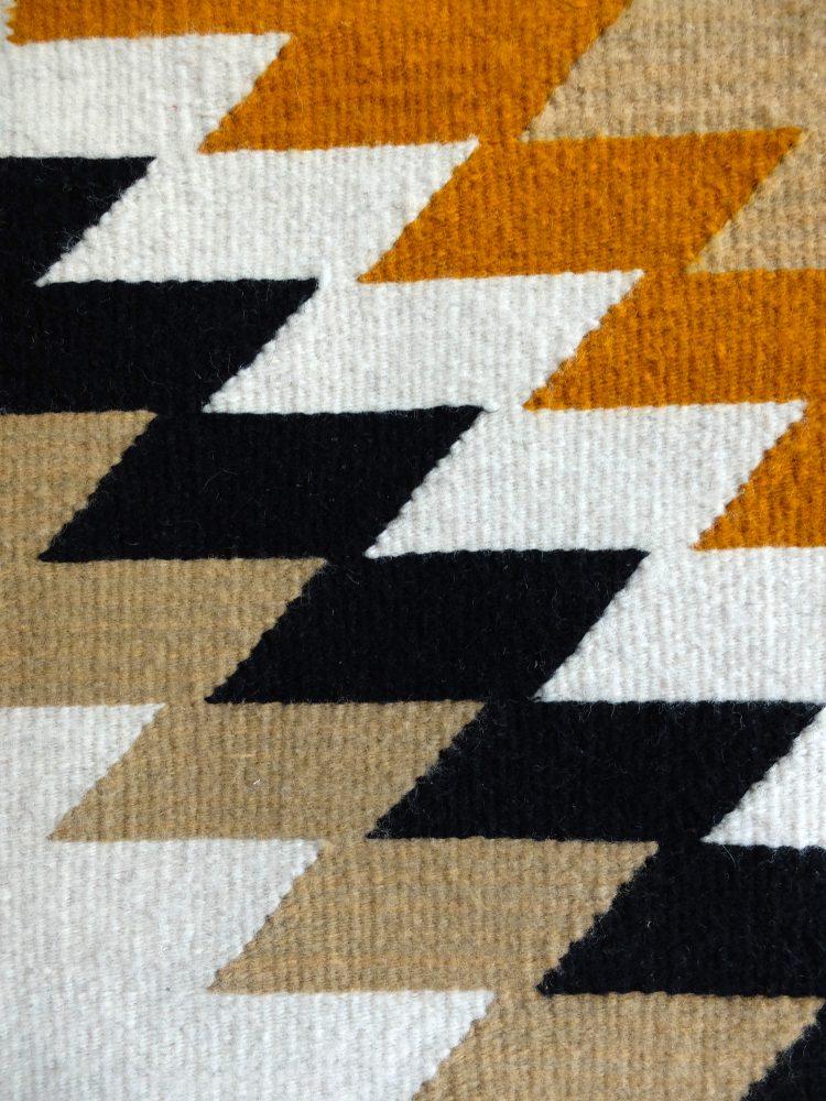 détail de tapis ethnique mexicain