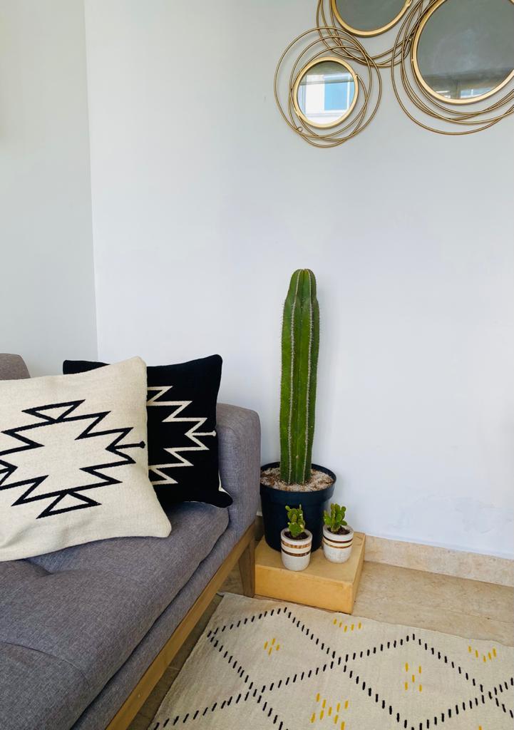 tapis berbère blanc vert jaune