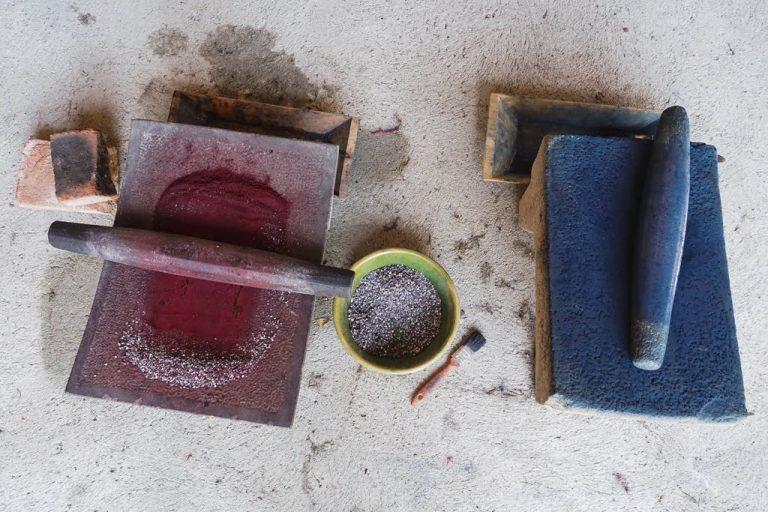 fabrication de pigments naturels