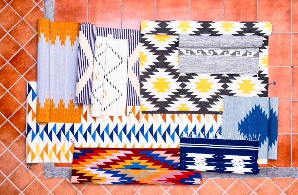 tapis en laine fabriqué au mexique