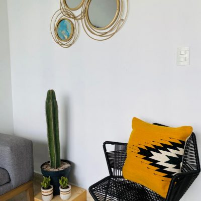 mexican handcrafted cushion cover ,wool