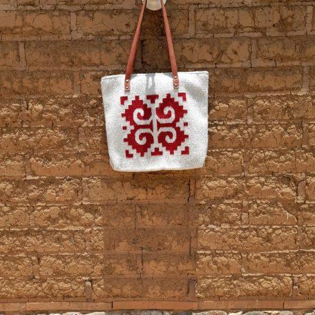Sac en laine a motif zapotèque: le caracoles